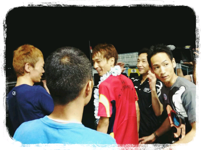 undefined 参加したのは、同郷岡山の川崎智幸選手、山口達也選手と、丸亀から三嶌誠司...